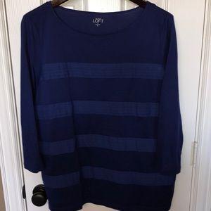 Ann Taylor Loft blouse XL Navy Blue